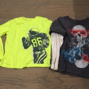 Lot of 2 gap kids boys long sleeve tshirts
